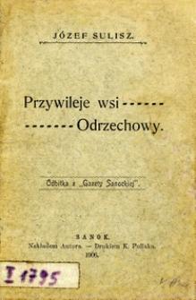 Przywileje wsi Odrzechowy