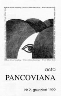 Acta Pancoviana, 1999, t. 2