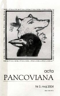 Acta Pancoviana, 2004, t. 3