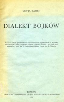 Dialekt Bojków