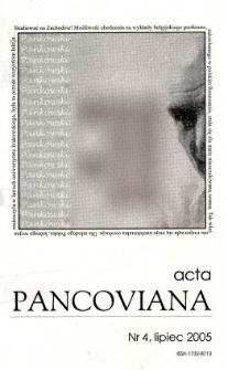 Acta Pancoviana, 2005, t. 4
