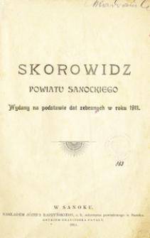 Skorowidz powiatu sanockiego : wydany na podstawie dat zebranych w roku 1911
