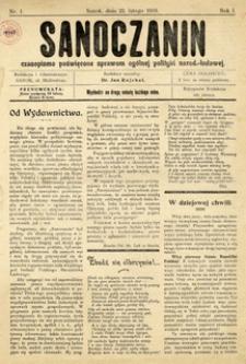 Sanoczanin, 1919, nr 1