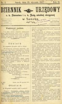 Dziennik Urzędowy c.k. Starostwa i c.k. Rady szkolnej okręgowej w Sanoku, 1912, nr 2