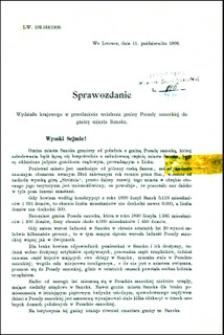 Sprawozdanie Wydziału krajowego w przedmiocie wcielenia gminy Posady sanockiej do gminy miasta Sanoka