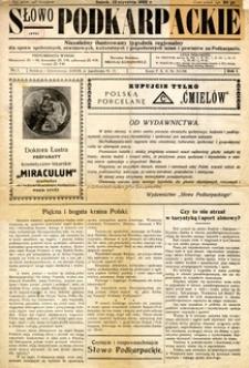 Słowo Podkarpackie, 1932, nr 1