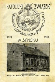 Katolicki Związek Młodzieży Rękodzielniczej i Przemysłowej w Sanoku 1923-1934 : jednodniówka