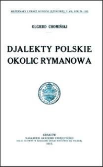 Djalekty polskie okolic Rymanowa