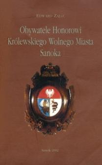 Obywatele Honorowi Królewskiego Wolnego Miasta Sanoka