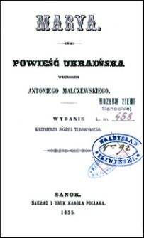 Marya: powieść ukraińska wierszem