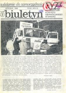 Biuletyn Informacyjny Komitetu Obywatelskiego w Sanoku, 1990, nr 2