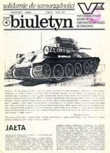 Biuletyn Informacyjny Komitetu Obywatelskiego w Sanoku, 1990, nr 4