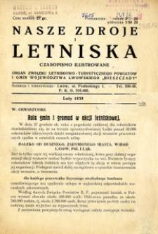 Nasze Zdroje i Letniska, 1939, nr 2