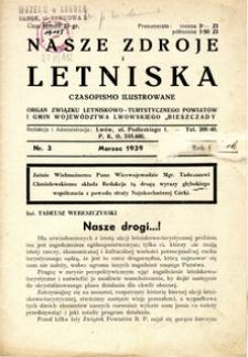 Nasze Zdroje i Letniska, 1939, nr 3