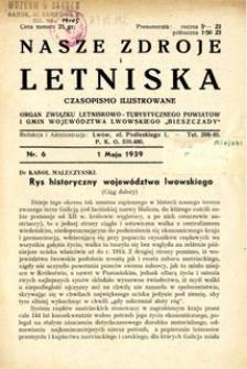 Nasze Zdroje i Letniska, 1939, nr 6