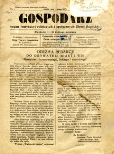 Gospodarz, 1927, nr 1