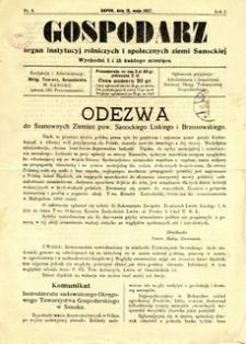 Gospodarz, 1927, nr 8