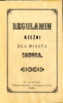Regulamin rzeźni dla miasta Sanoka