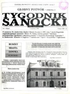 Tygodnik Sanocki, 1991, nr 3