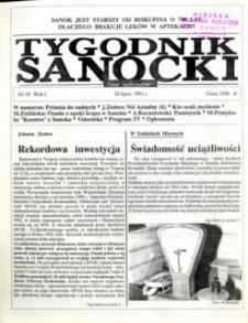 Tygodnik Sanocki, 1991, nr 10