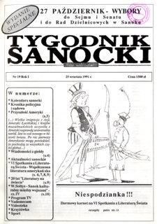 Tygodnik Sanocki, 1991, nr 19