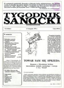 Tygodnik Sanocki, 1991, nr 26