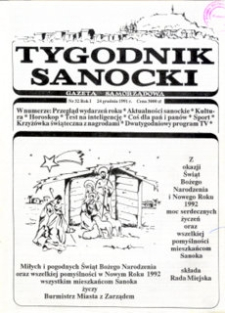 Tygodnik Sanocki, 1991, nr 32