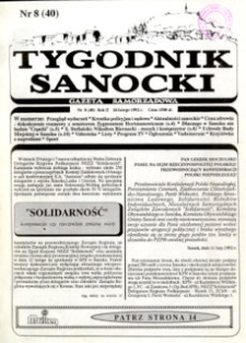 Tygodnik Sanocki, 1992, nr 8
