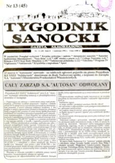 Tygodnik Sanocki, 1992, nr 13
