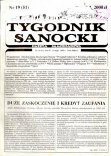 Tygodnik Sanocki, 1992, nr 19