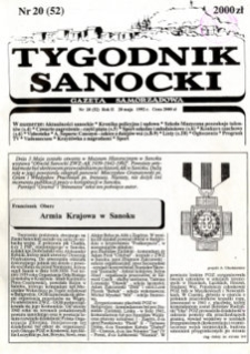 Tygodnik Sanocki, 1992, nr 20