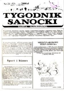 Tygodnik Sanocki, 1992, nr 21