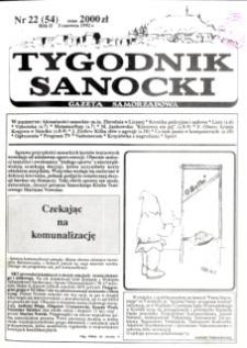 Tygodnik Sanocki, 1992, nr 22