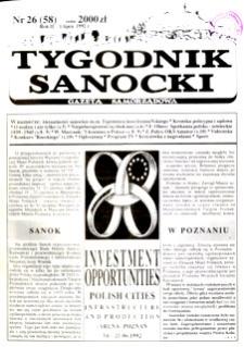 Tygodnik Sanocki, 1992, nr 26