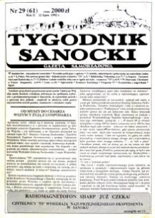 Tygodnik Sanocki, 1992, nr 29