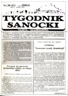 Tygodnik Sanocki, 1992, nr 30