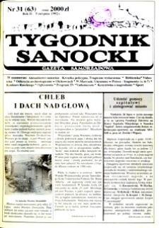 Tygodnik Sanocki, 1992, nr 31