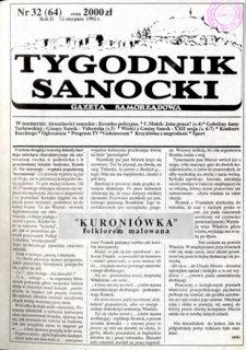 Tygodnik Sanocki, 1992, nr 32