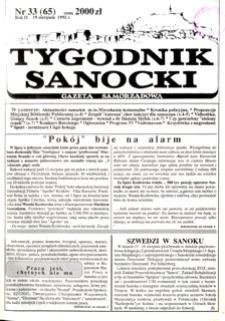 Tygodnik Sanocki, 1992, nr 33