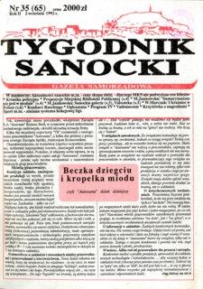 Tygodnik Sanocki, 1992, nr 35