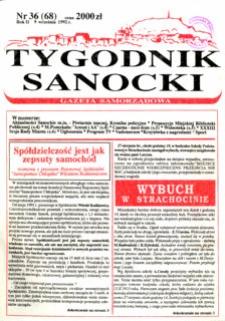 Tygodnik Sanocki, 1992, nr 36