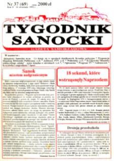 Tygodnik Sanocki, 1992, nr 37