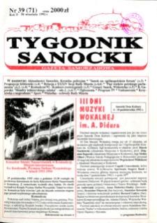Tygodnik Sanocki, 1992, nr 39