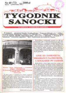 Tygodnik Sanocki, 1992, nr 40