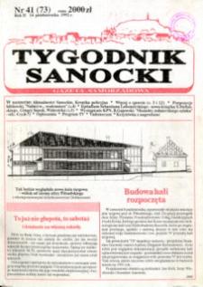 Tygodnik Sanocki, 1992, nr 41