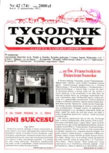 Tygodnik Sanocki, 1992, nr 42