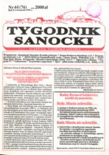 Tygodnik Sanocki, 1992, nr 44
