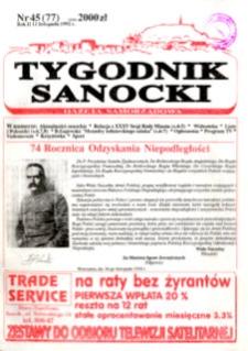 Tygodnik Sanocki, 1992, nr 45