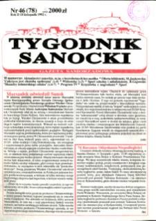 Tygodnik Sanocki, 1992, nr 46