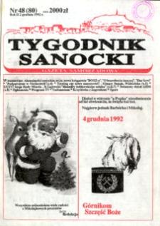 Tygodnik Sanocki, 1992, nr 48